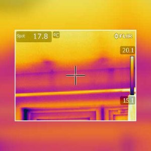 Thermal Imaging Survey Cold Ingress Above Window Frame Leeds Bungalow