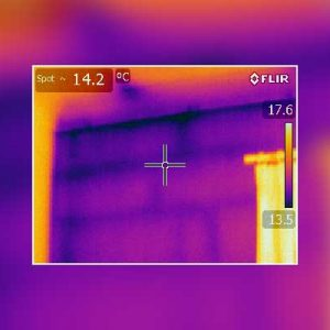 Thermal Imaging Survey Cold Wall and Ceiling Leeds Bungalow