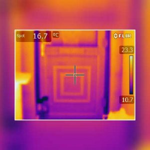 Thermal Imaging Survey External Door Leeds Bungalow