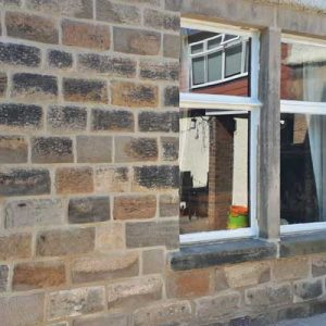 Stone refacing and repointing in lime mortar - Harrogate