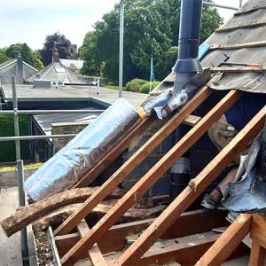 Retrofit project bungalow Ilkley main dormers ready for insulation