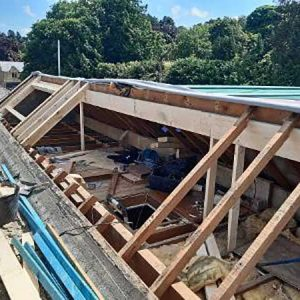 Roof structure alterations to take new roof windows - Ilkley