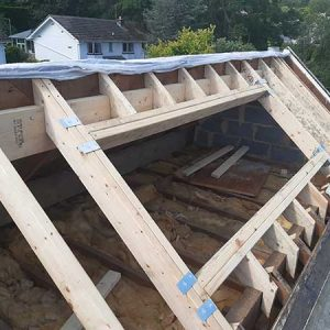 Roof structure with openings made for roof lights - Ilkley